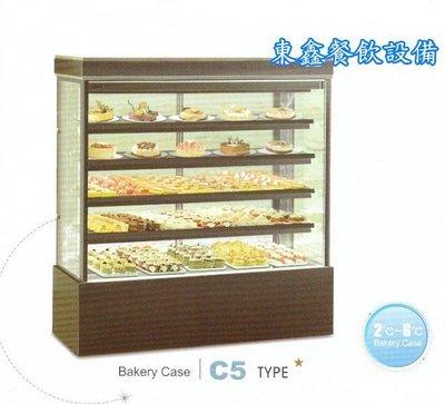 ~~東鑫餐飲設備~~C5 加高型直角蛋糕櫃 / 4角玻璃後開門展示櫃 / 蛋糕5層冷藏展示櫥