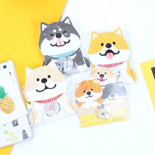 創意可愛柴犬貼手帳紙包 裝飾防水日記本手機貼畫 動物表情水杯貼_☆優購好SoGood☆