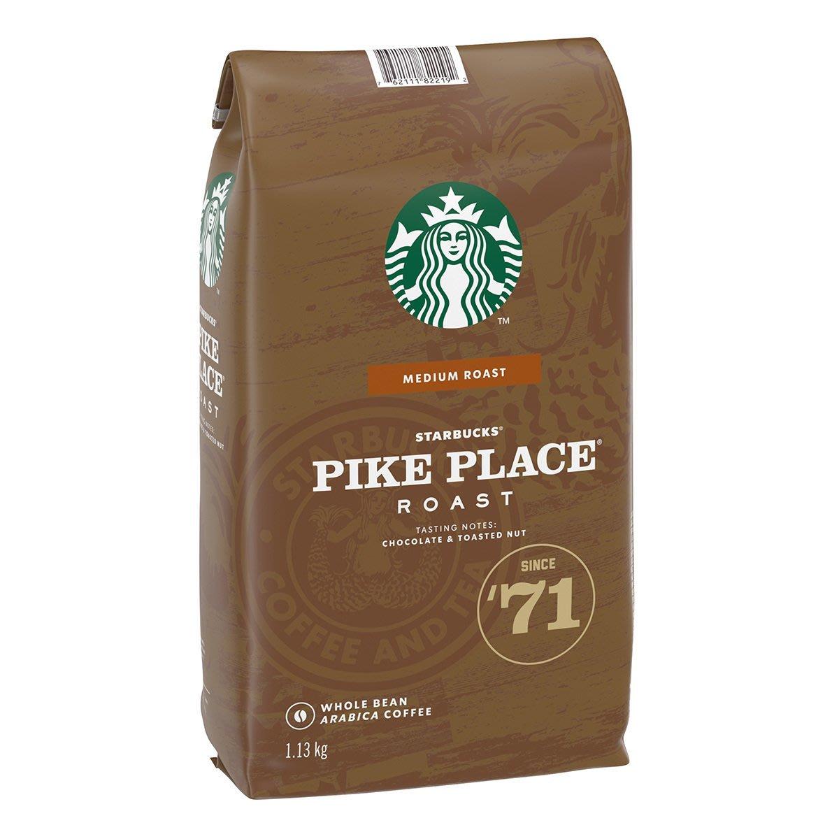 !costco代購(現貨)(特價) #608462 星巴克 派克市場咖啡豆 1.13公斤*