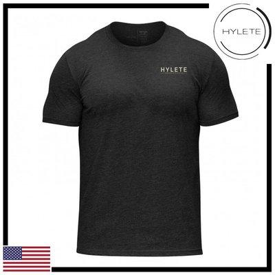 ►瘋狂金剛◄ 黑色 HYLETE overlay tri-blend crew tee 柔軟 透氣 短袖T恤