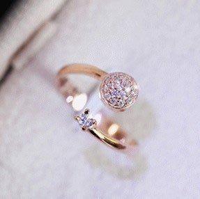 熱賣批發館 I-024 來自星星的你戒指都敏俊教授求婚戒指 千頌伊同款微鑲戒指環
