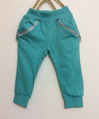 媽媽咪呀~Mamma Mia韓國童裝!過季零碼出清!綠色拉鍊束口褲