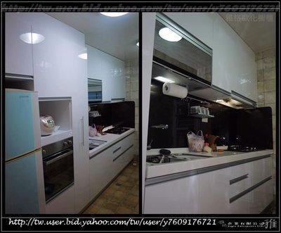 【雅格廚櫃】工廠直營~一字型廚櫃、流理台、廚具、結晶鋼烤、櫻花三機