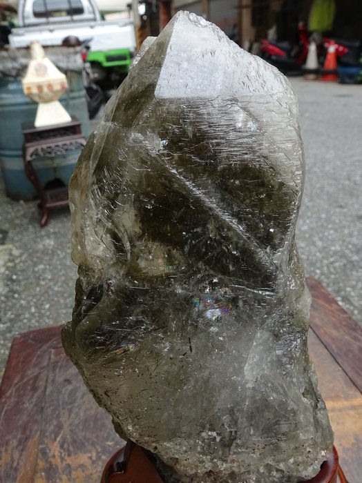 ~shalin-crystal~巴西紀錄器骨幹~1.29公斤~含綠柱石~晶質清透~質地超優~低價起標!