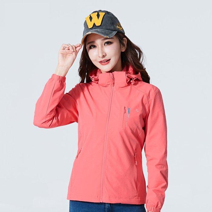 保暖風衣 衝鋒衣 女春秋季單層薄款彈力透氣防水外套戶外大碼運動 登山服 裝女