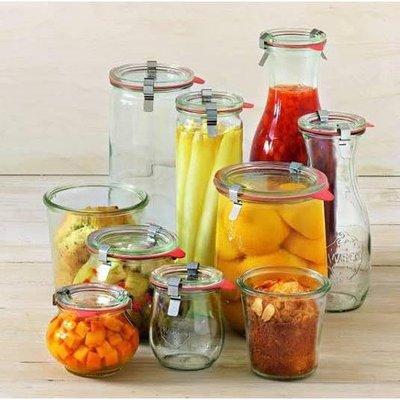 現貨 德國直購 Weck 超好用玻璃罐 玻璃杯 附扣環與密封配件 Tulip Jar系列
