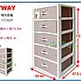 海神坊=台製 KEYWAY CJ500 特大安雅五層櫃 收納箱 置物櫃 抽屜整理箱 附輪172.5L 2入3400元免運