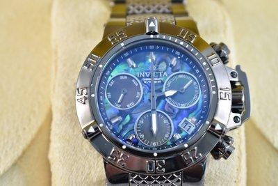 《大男人》Invicta Subaqua女用90146特殊錶冠42MM個性潛水錶,電鍍黑非常美(本賣場全現貨)
