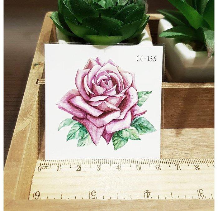 【萌古屋】花朵單圖CC-133 - 防水紋身貼紙刺青貼紙K38