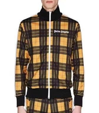 Palm Angels Yellow Tartan Track Jacket 格紋運動外套