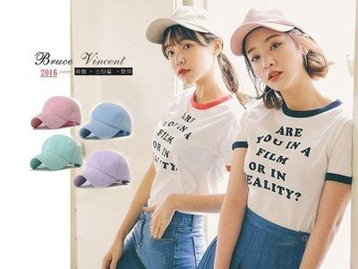 BV布魯斯{P42}韓國新品高質感馬卡龍雞皮素色彎版棒球帽 宋仲基款 6色現貨+預購