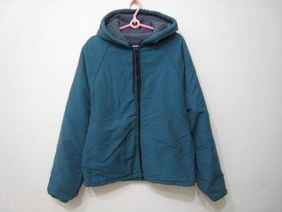 American Apparel 藍綠色 內刷毛 連帽外套