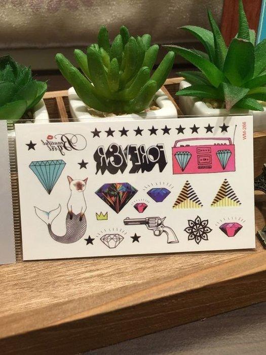 【萌古屋】M系列原宿風收音機 - 男女防水紋身貼紙原宿刺青貼紙WM-266
