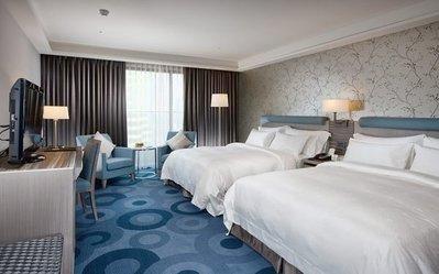 五星級飯店民宿汽車旅館專用備品超細纖維條紋雙人床罩台灣製