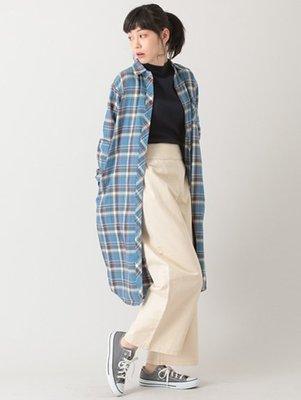 購於日本  日系吊帶長版寬褲 米色  E hyphen world gallery 日幣4990+稅  KWD 2 長月