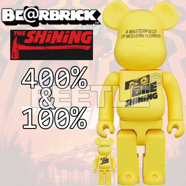 BEETLE BE@RBRICK THE SHINING POSTER 鬼店 黃 BEARBRICK 100 400%