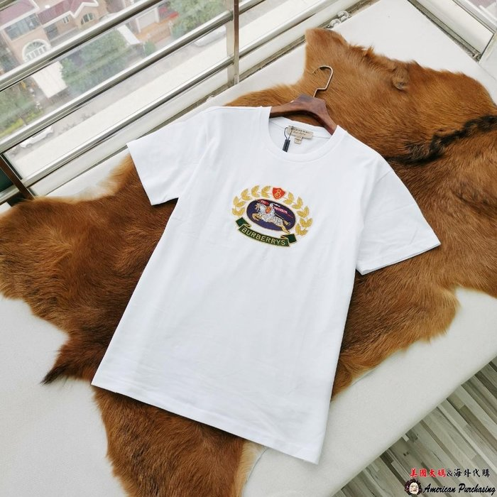 美國大媽代購 Burberry 巴寶莉 英倫經典 休閒時尚 圓領 短袖 T恤 純棉 圓領T  美國代購