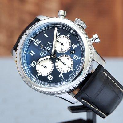 Breitling 百年靈 Navitimer 8 藍面 AB0117131C1P1 飛行計時腕錶 43mm 熊貓面