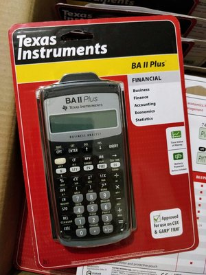 Texas Instruments TI BA II Plus Financial Calculator 金融計算機 **CFA, FRM, CMA適用**