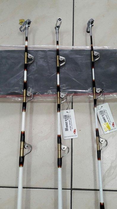 【欣の店】台灣寸真公司 閃鱗殺手 高級滾輪船竿 200/300-180 6尺 透抽 白鐵線 船竿