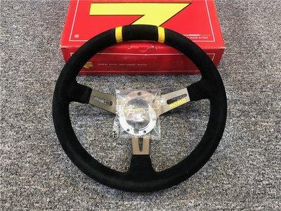 【新时空車飾】意大利momo方向盤 mod drifting 330mm 翻毛皮