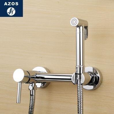 【優上】冷熱增壓手持花灑婦洗器淋浴噴頭馬桶閥龍頭套裝「D款圓形」