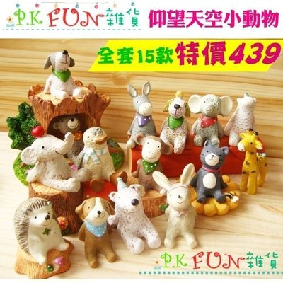 P.K Fun✨台灣現貨 仰望天空 樹脂擺飾 小動物公仔 療癒系 ZAKKA雜貨 多肉植物 微景觀 拍照道具