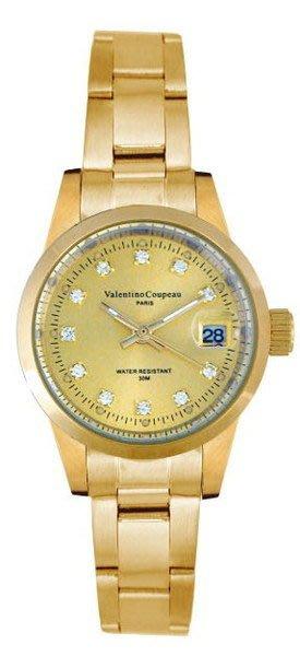 (六四三精品)Valentino coupeau(真品)(全不銹鋼)精準女錶(附保証卡)12168KL-17