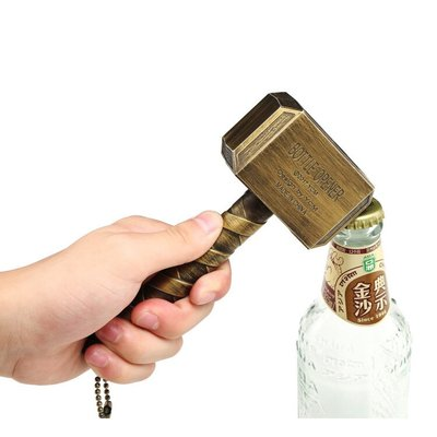 創意 雷神開瓶器 塑料啟瓶器錘子開瓶器opener