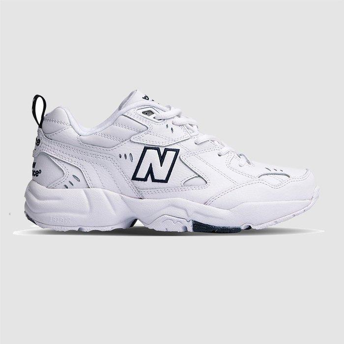 【QUEST】NEW BALANCE 608 全白 白底黑字 老爹鞋 慢跑鞋 休閒鞋  白色 韓妞 女鞋 WX608WT