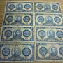 中央儲備銀行~民國29年拾圓(約75新/右上紙邊有蟲蛀)~~共8枚一標