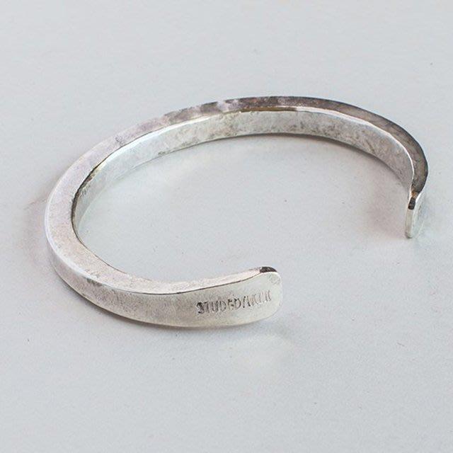 美國匹茲堡職人品牌Studebaker Metal純手工鍛造Heavyweight純銀手環 - LTS現貨