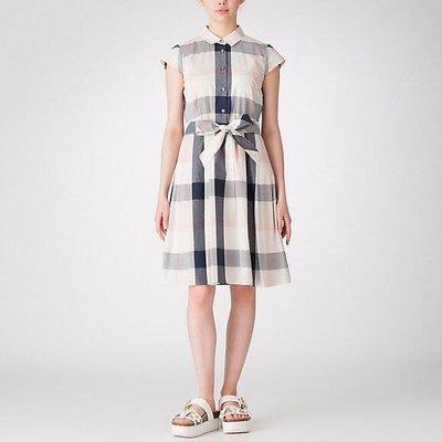 預購 日本限定 Blue  Label crestbridge 格紋襯衫領 附同材質腰帶 洋裝 一共有四個顏色 四個尺寸可以選擇