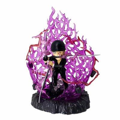 【紫色風鈴3】海賊王GK 三千世界 索隆 黑衣 可發光雕像盒 港版