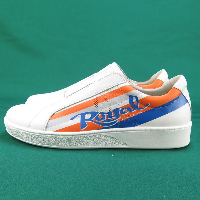 Royal BISHOP 免綁 休閒鞋 正品 01791025 橘X灰X藍 男款  【iSport愛運動】