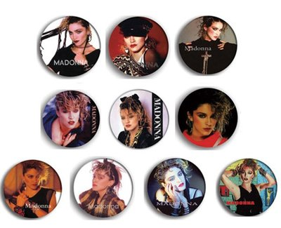 現貨 MADONNA 80's Portrait pinback BADGE SET 1b 襟章 徽章 (一套10個)