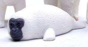 【動漫瘋】 日本正版 代理 轉蛋 扭蛋 猩猩臉動物大集合 單售 海豹  [ 非 戽斗動物園]