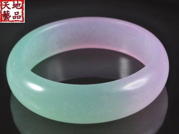 天地 藝品 天然 緬甸玉 極品 冰透 ( 紫 羅蘭 ) 寬版 平安 手鐲 ( 20 圍 ) 淨重 58.6 公克K234