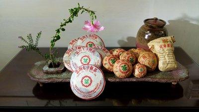 (店舖不續租清倉大拍賣)普洱茶與陳明輝先生的茶盤,原價38900元特價19500元