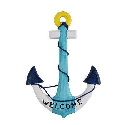 海鮮店裝飾品62CM彩色船錨壁掛兒童房客廳餐廳背景墻裝飾地中海風