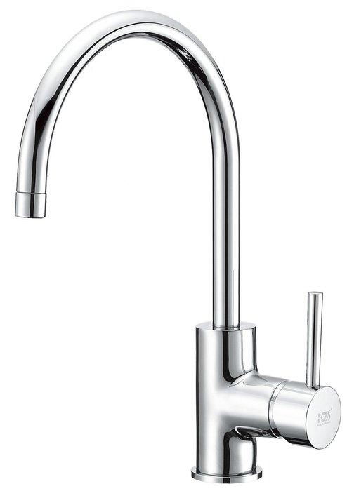 《101衛浴精品》台製 BOSS 低鉛 廚房立式龍頭 D-3038 日本進口陶瓷閥芯【免運費】