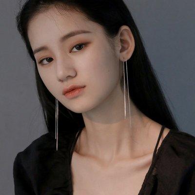 熱賣顯臉瘦的耳環女流蘇耳線長款氣質韓國...