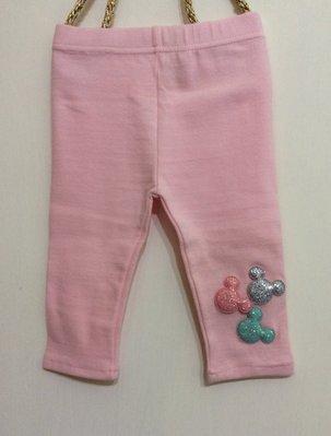 媽媽咪呀~Mamma Mia韓國童裝!過季零碼出清!粉色米奇七分內搭褲