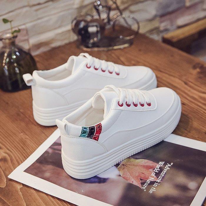 小白鞋女春季新款百搭正韓板鞋學生平底休閒女鞋街拍帆布鞋子