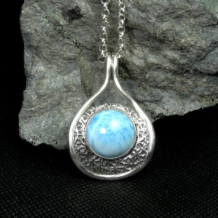 【善觀手作精品】墜子 拉利瑪 925銀飾 項鍊 寶石 設計 手工 手創 首飾 飾品