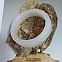 和闐羊脂白玉_浮雕手鐲[花開富貴]_高級水料包漿_無花無暇無裂手圍18.3_牛毛沁_重量約78.9公克