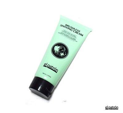 GOODFORIT / 美國El Patron Tube Shaving Cream尤加利精油薄荷刮鬍膏/3.4OZ