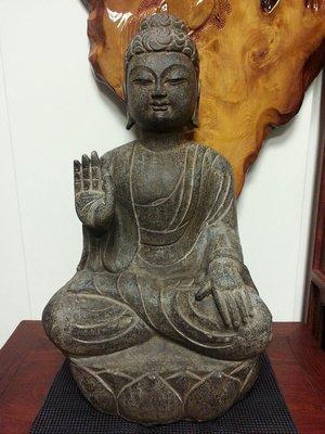 (收購紫檀黃花梨酸枝紅木家具)早期石雕坐佛   火山岩雕   佛教文物  宗教用品
