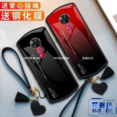 【獨家新品】美圖T9手機殼M8玻璃T8漸變英文軟硅膠全包邊防摔保護套