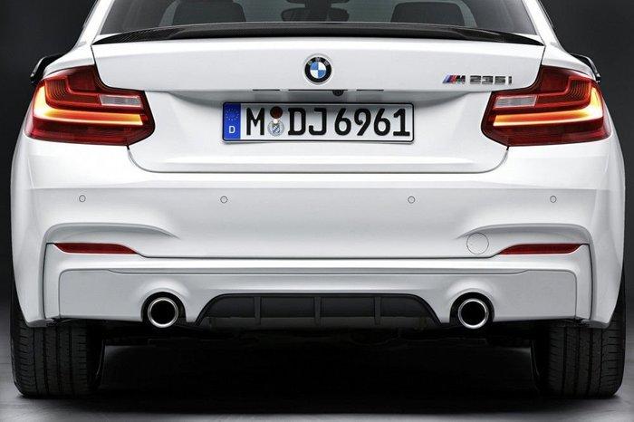 【樂駒】BMW 原廠 改裝 套件 F22 M235i M240i M Performance 後下巴 擾流 空力